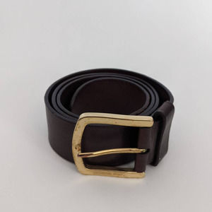 Michael Kors Brown Leather Belt XS Made in Italy